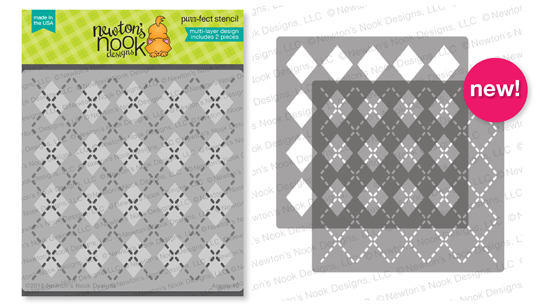Argyle layering Stencil Set by Newton's Nook Designs #newtonsnook
