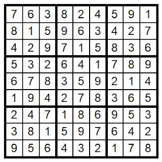 answerkey sudoku puzzle #25 @BionicBasil®