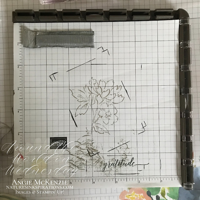 Why I love the Stamparatus and the Small Grid Paper!  It makes creating multiples of the same design so easy!     Nature's INKspirations by Angie McKenzie   Around the World on Wednesday Blog Hop - October 2021   10 in 30