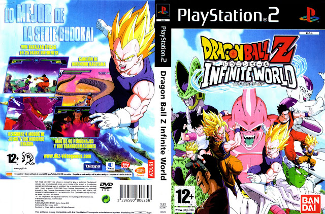Descargar Dragon Ball Z - Infinite World NTSC-PAL playstation 2 Formato iso: Es un videojuego basado en la serie de anime y manga Dragon Ball y que es, por lo pronto, el último juego de esta serie en PlayStation 2.