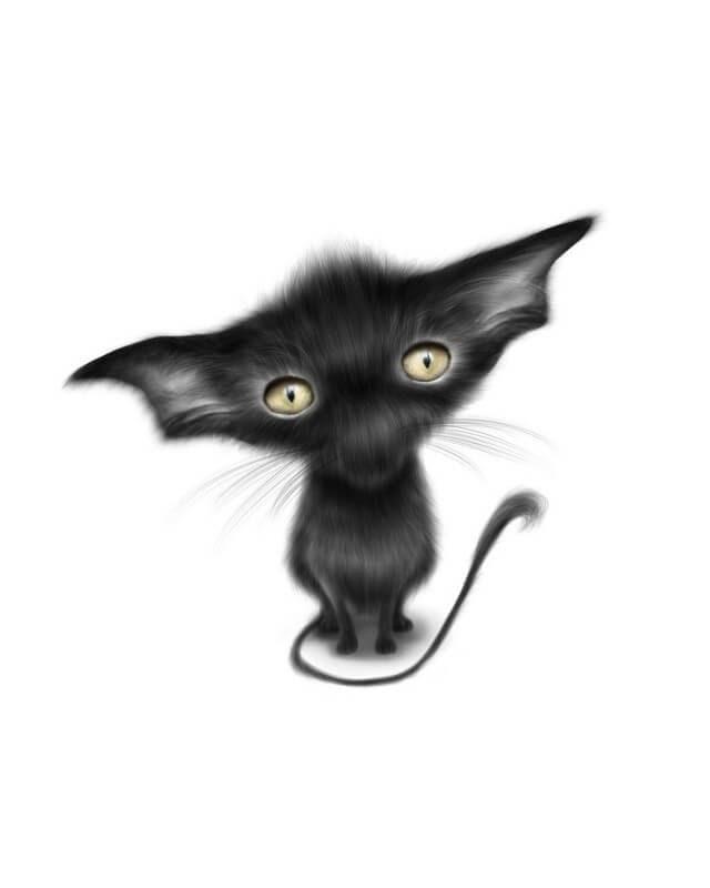13-Vampire-Bat-Cat-Maria-Fluffy-Animals-in-Digital-Art-Creatures-www-designstack-co