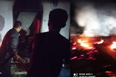 Satu Rumah Berlantai Dua Ludes Terbakar di Samosir