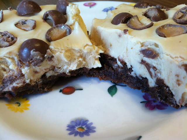 Whopper Brownies with Malted White Chocolate Frosting