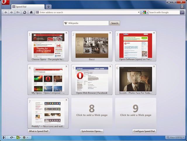 صورة تصف واجهة برنامج أوبرا من الداخل