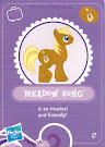 My Little Pony Wave 3 Meadow Song Blind Bag Card