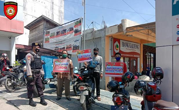 Gelar Patroli Dialogis, Satsabhara Polres Barsel Ajak Masyarakat Terapkan Protkes