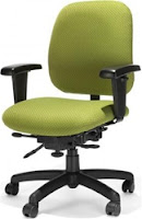 Bright Green Fabric Office Chair