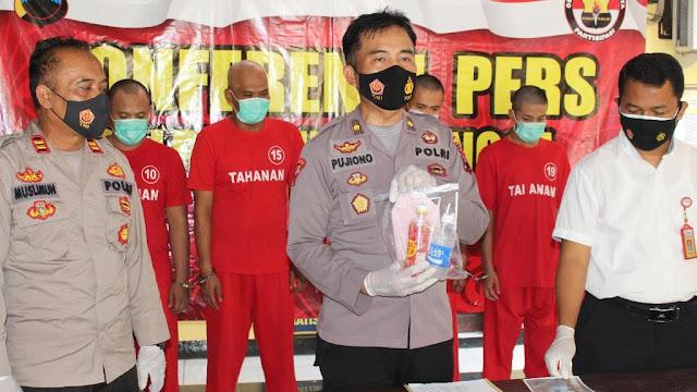 Empat Orang Pelaku Pesta Sabu Dibekuk Satresnarkoba Polres Purbalingga