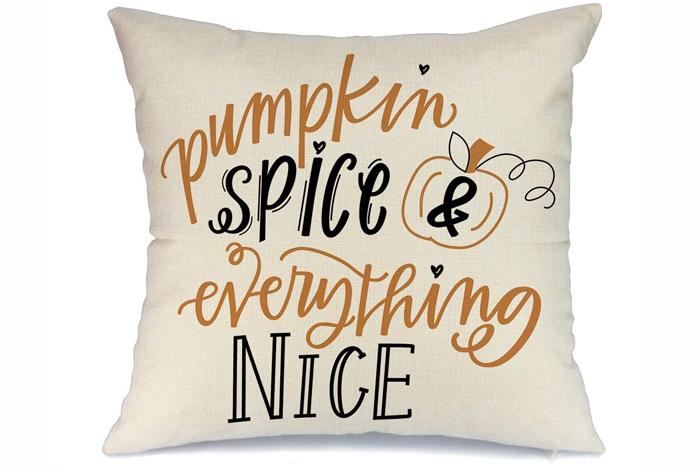 Pumpkin Spice Pillow Cover