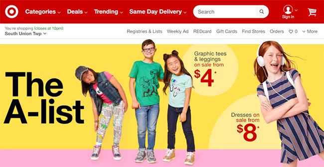 أشهر مواقع التجارة الالكترونية العالمية، تارجت، Target