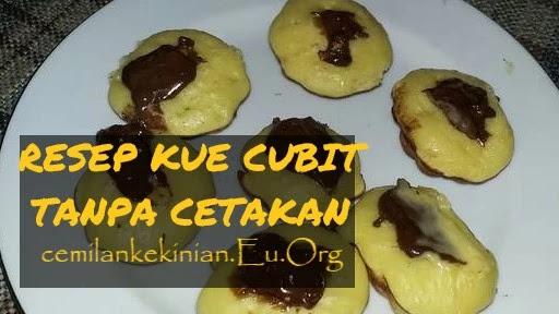 RESEP KUE CUBIT TANPA CETAKAN