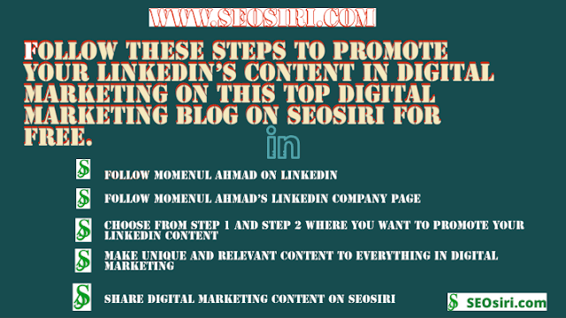 LinkedIn's Digital Marketing Content promotion
