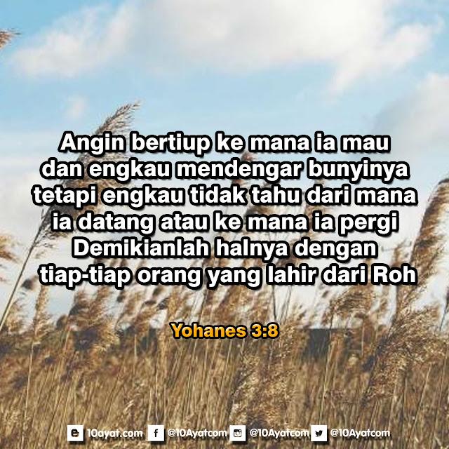 Yohanes 3: 8