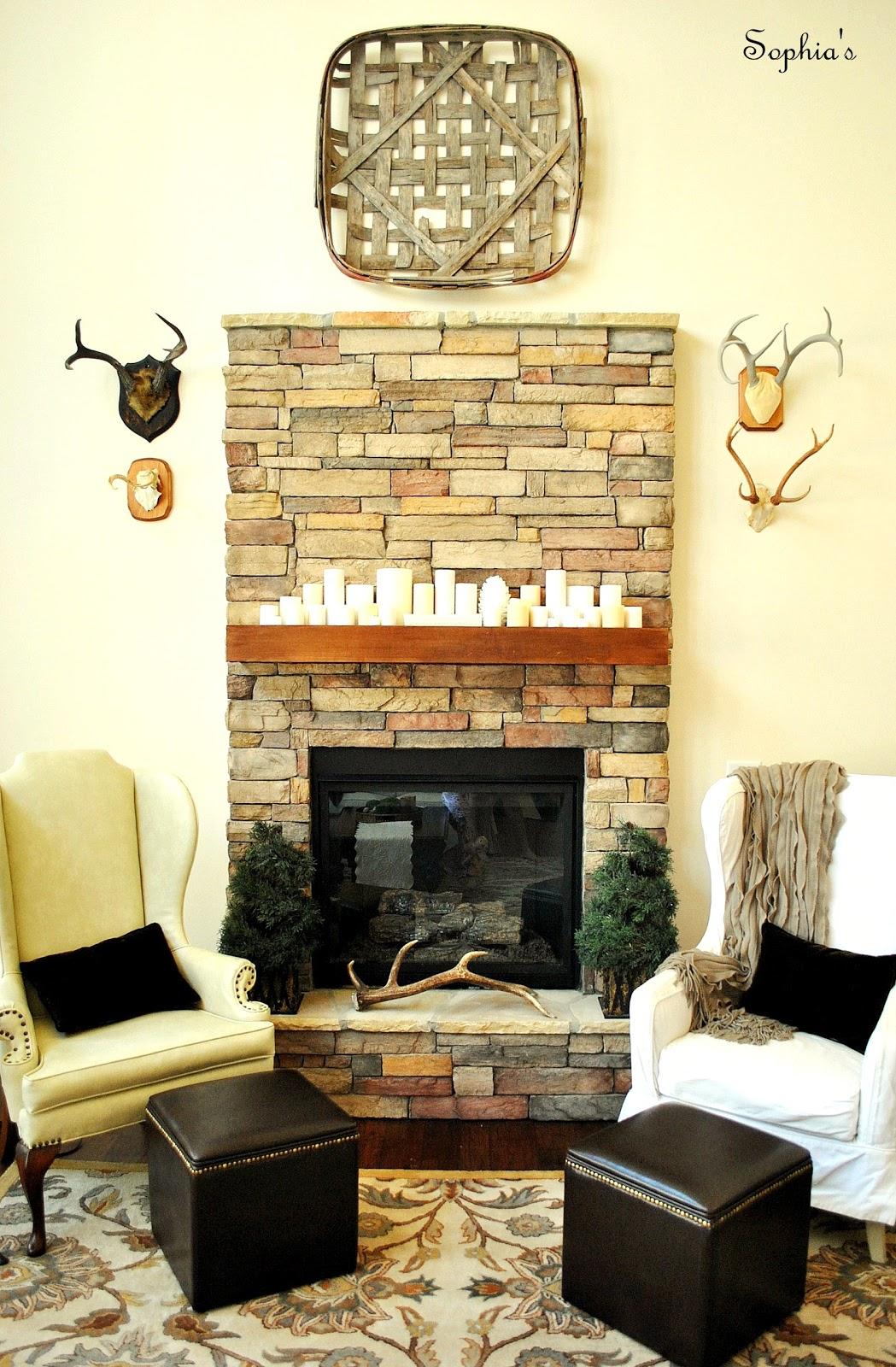 Sophia's: A Cozy Rustic Fireplace