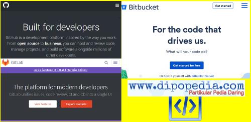 Ilustrasi Membuat Situs Di Github, Bitbucket, Dan Gitlab