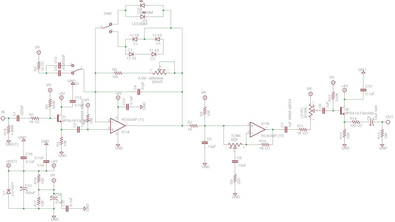 Blues Pedal Schematic Electrical Wiring Diagram Distortion Rockbox Boiling Point La R U00e9volution Deux Digitech Pedals Deep Blue Delay
