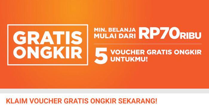 5 Voucher Gratis Ongkir dan Cashback Rp100 Ribu - Shopee.co.id