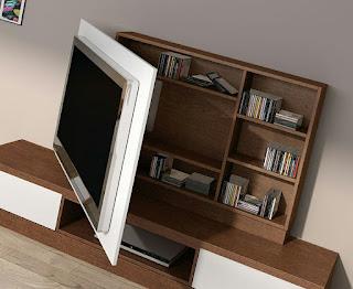 فكار وديكورات لعمل شاشات تي في tv متحرك لوضع التلفاز والتحكم في الاتجاه