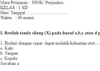 Soal-UAS-UKK-PJOK-Penjaskes-kelas-1-SD-Semester-1