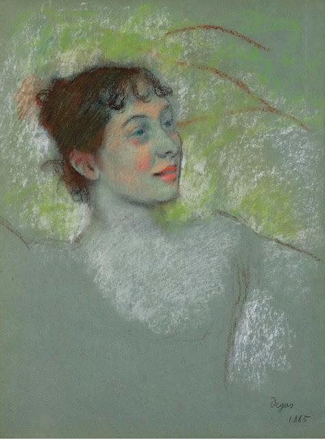 Эдгар Дега - Мадмуазель Салландри (1885)