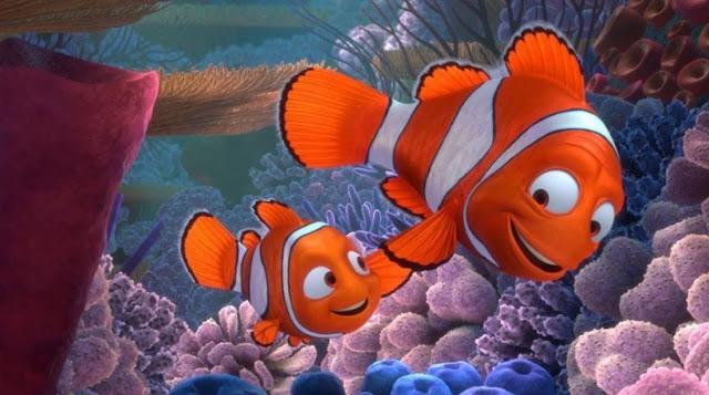 Fotograma de la película de animación de Pixar Buscando a Nemo