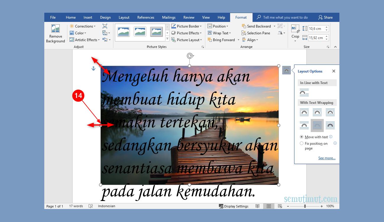 Cara Membuat Tulisan Di Atas Gambar Microsoft Word Lengkap Semutimut Tutorial Hp Dan Komputer Terbaik