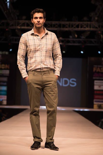 Mr. India Arry Dabas walked the ramp at The Great Indian Fashion Week, Noida