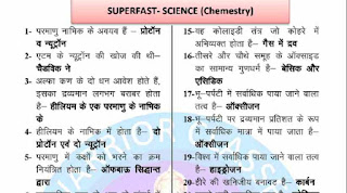 Chemistry One Liner Notes in Hindi for UPSC
