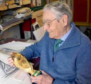 Gazzaniga designed the Fifa World Cup Trophy in 1971