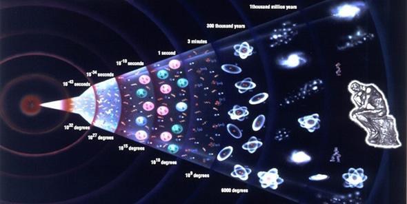 ilustración del origen del universo según los ateos
