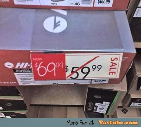 Sale price fail