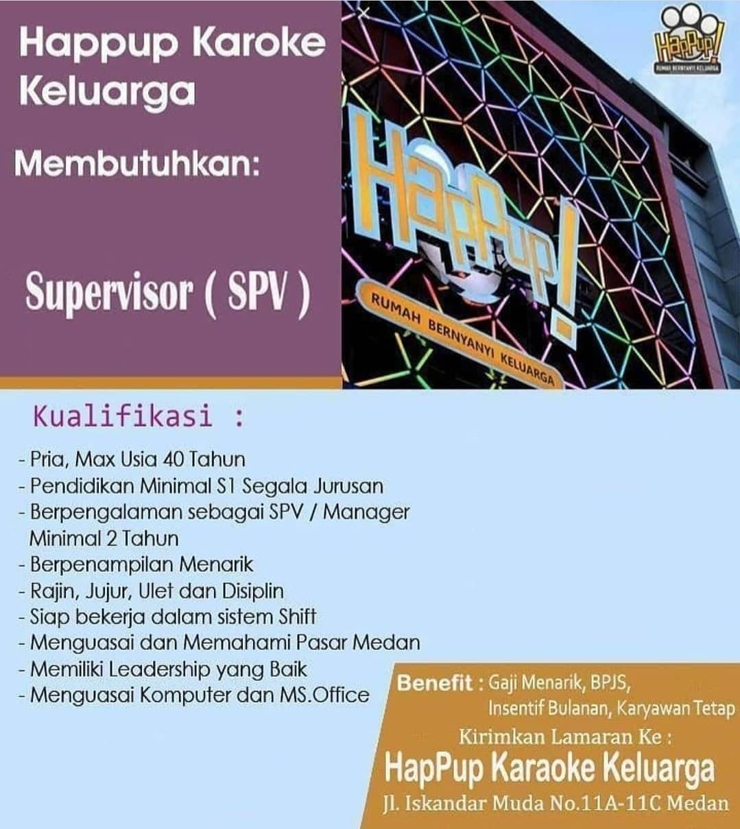 Lowongan Kerja S1 Segala Jurusan Di Happup Karaoke Keluarga Medan November 2020 Lowongan Kerja Medan Terbaru Tahun 2021
