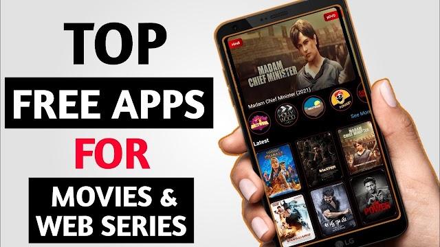 Top 5 Free Movies or Webseries Apps,5 मुफ्त फिल्में या वेबसीरीज ऐप्स