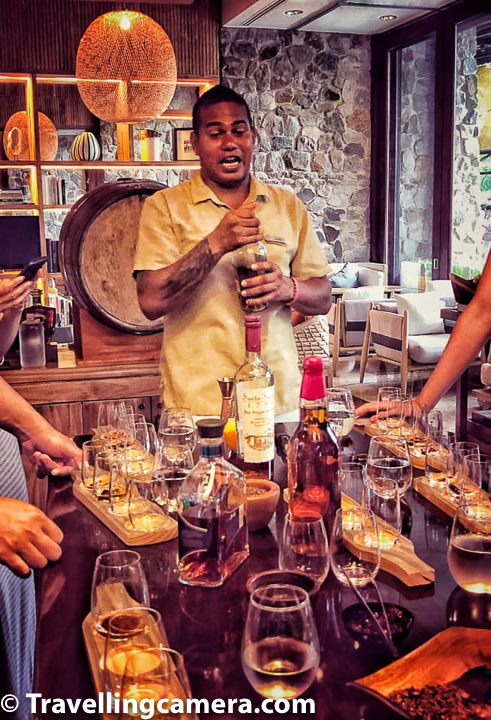 Rum Tasting at Four Seasons Papagayo Peninsula offers infusions by choosing a selection of young rums and infusion ingredients, including vanilla sticks, cinnamon, cloves, orange peel, cardamom, anise, coffee beans and cocoa. The rum master at Four Seasons guides guests through the infusion process, explaining how each ingredient will affect the rum's flavour profile, which is certainly very hard thing to understand.