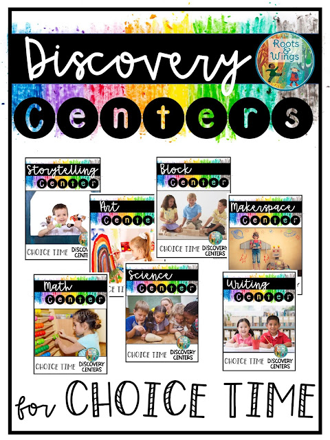 set up ideas and tips for choice time discovery centers in kindergarten