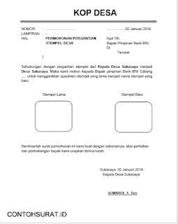 Contoh Surat Pergantian Stempel