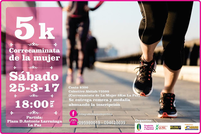 5k y 2k de la mujer en La Paz (Canelones, 25/mar/2017)