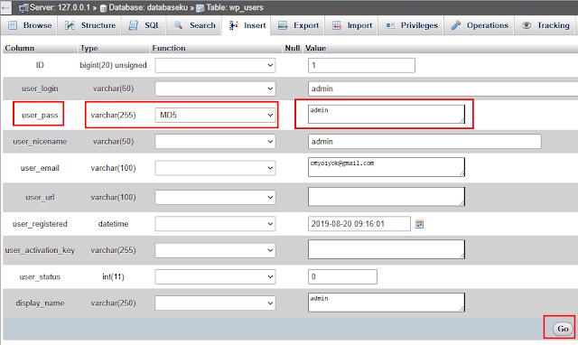Cara Mengganti Password Wordpress Lewat Phpmyadmin