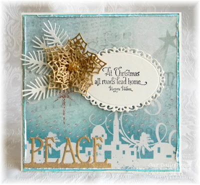 Our Daily Bread Designs Stamp Sets: Home For The Holidays, Our Daily Bread Designs Custom Dies: Merry Mosaics, Ornate Ovals, Lovely Leaves, Peace Border, Our Daily Bread Designs Paper Collection: Christmas 2014