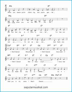chord i won't dance 2 lagu jazz standar