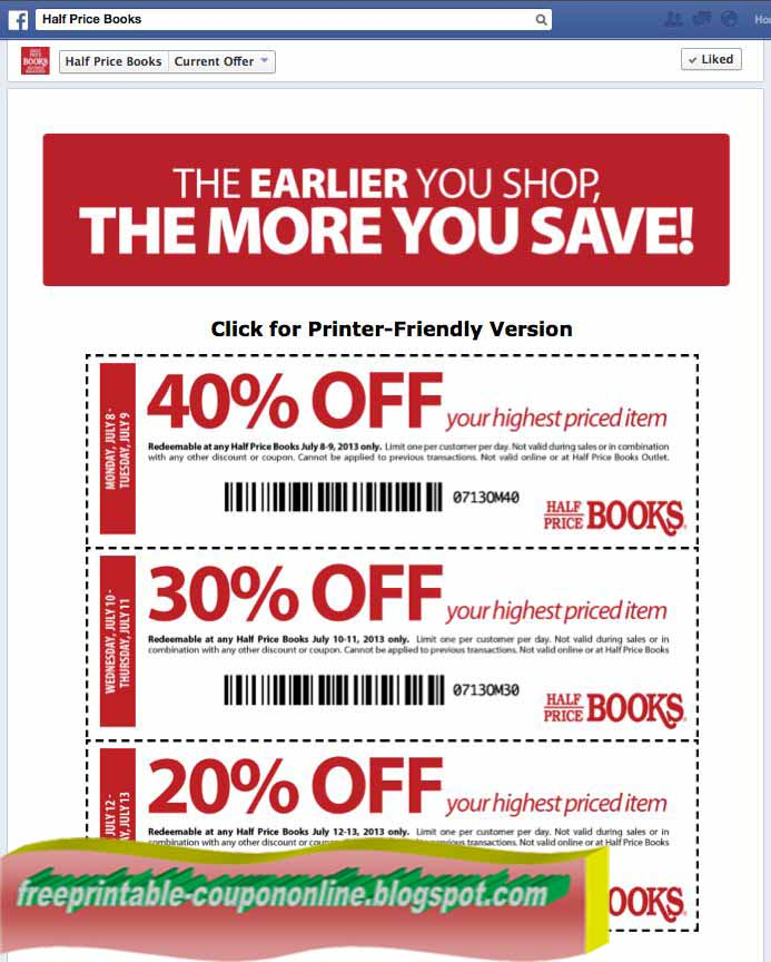 coupons for half com