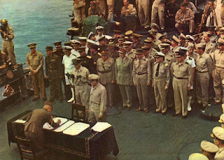 Japanese surrender USS Missouri color photos worldwartwo.filminspector.com