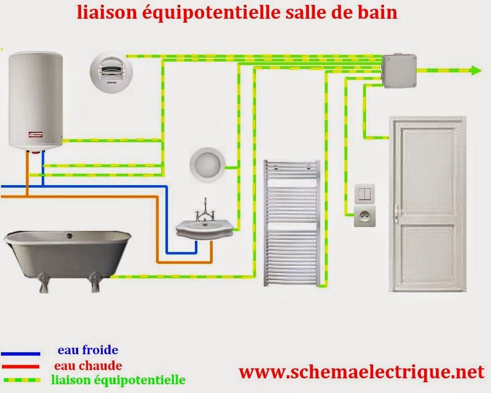 Schema electrique branchement cablage for Interrupteur salle de bain