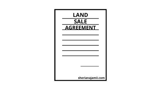 land sale agreement sample