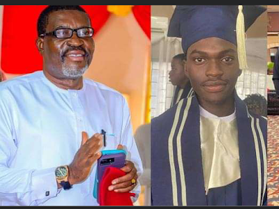 Popular Nigerian actor and lawyer, Kanayo O. Kanayo his celebrating his son as he graduates from college. (PHOTOS)
