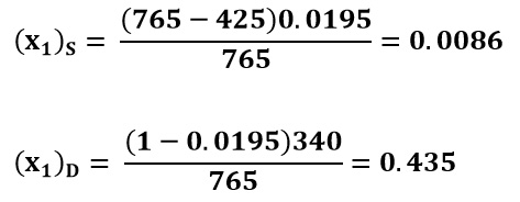 Composición global del flujo en el ejemplo 1