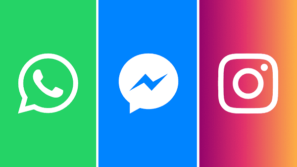 Messenger و WhatsApp و Instagram