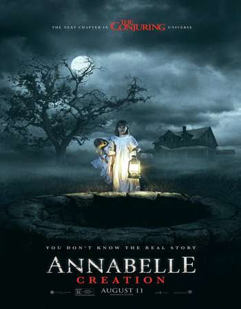 Poster Of Annabelle- Creation 2017 Full Movie In Hindi Dubbed Download HD 100MB English Movie For Mobiles 3gp Mp4 HEVC Watch Online