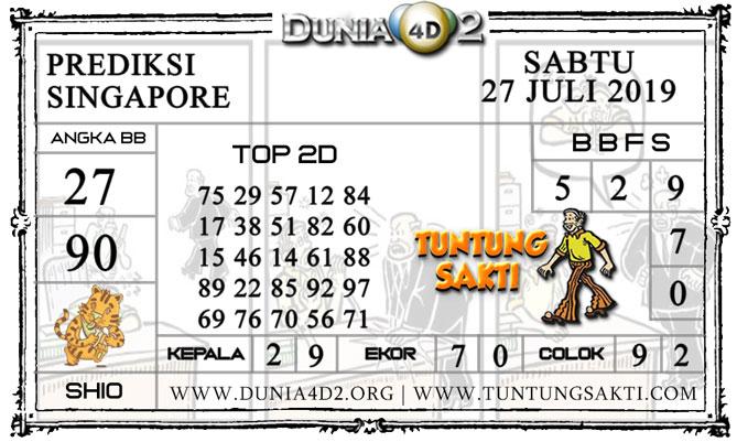 """Prediksi Togel """"SINGAPORE"""" DUNIA4D2 27 JULI 2019"""