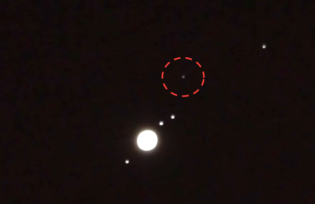 Ufo Sightings Daily Giant Ufo Near Jupiter Seen Through